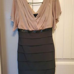Enfocus Petite black and tan dress